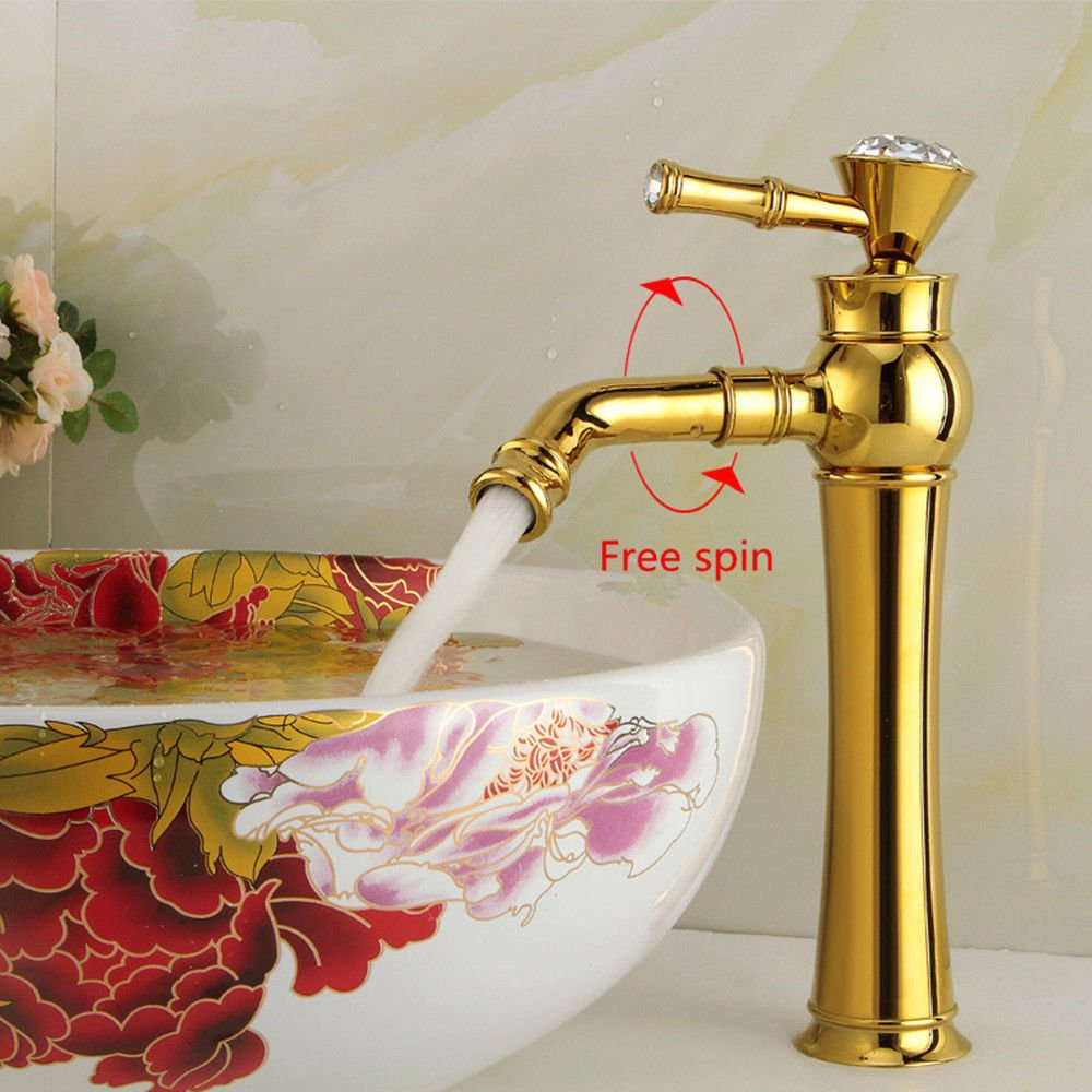 F kokeruup Faucet European Copper Diamond Faucet Bathroom Faucet hot and Cold Water Faucet G
