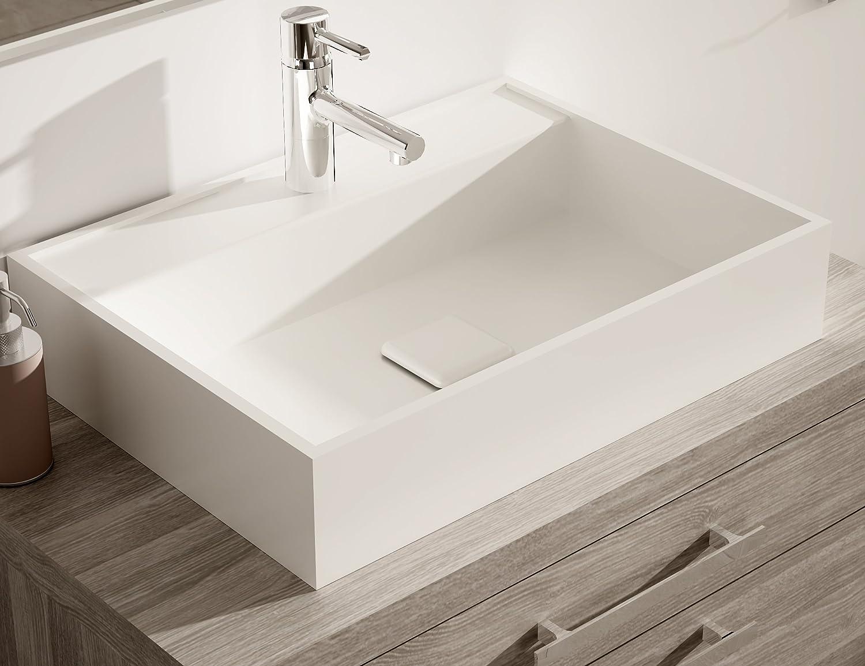 Lavabo Sobre Encimera Polo Terminaci N Solid Surface Amazon Es  ~ Lavabos De Diseño Sobre Encimera