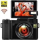 デジカメ デジタルカメラ カメラ Wi-Fi デジタルカメラ 24.0 MP カムコーダー ビデオカメラ 2.7K スーパーHD 3.0インチ ビデオブログカメラ 回転スクリーン 反転画面 格納&スライド式フラッシュライト