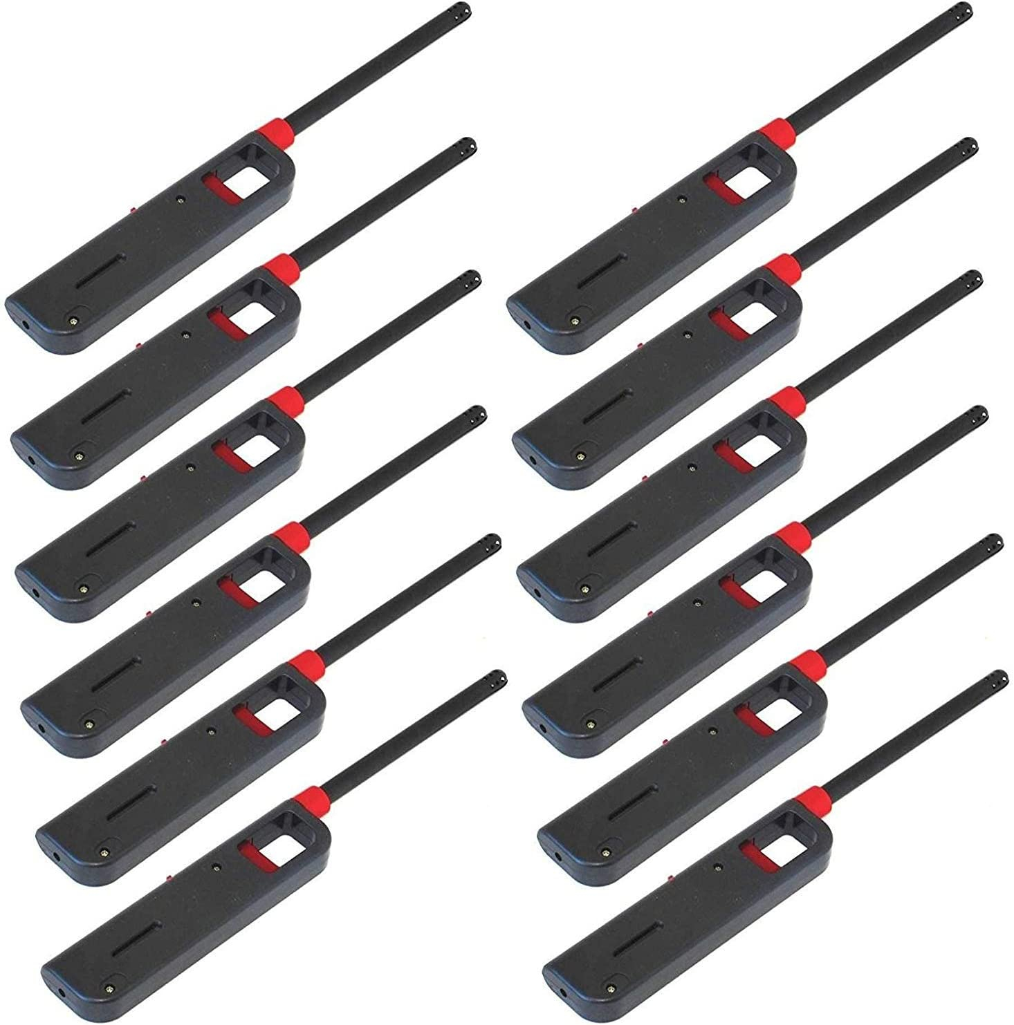 12 Pack BBQ Grill Lighter Refillable Butane Gas Candle Fireplace Kitchen Stove Long 71MYEsudCGL