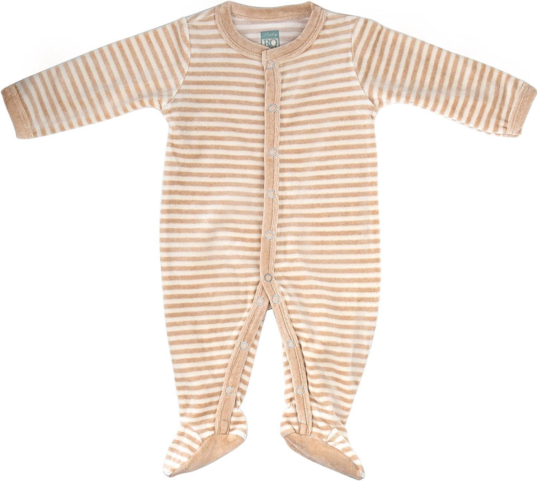 All-Natural Cotton Striped Plush Coverall