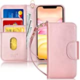 "FYY Case for iPhone 11 6.1"", [Kickstand Feature] Luxury PU Leather Wallet Case Flip Folio Cover with [Card Slots] and [Note P"