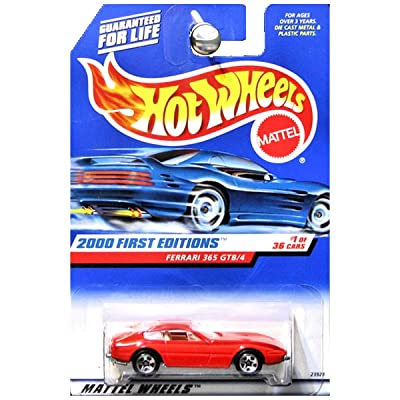 Mattel Hot Wheels 2000 First Editions 1:64 Scale Red Ferrari 365 GTB/4 Die Cast Car #001: Toys & Games