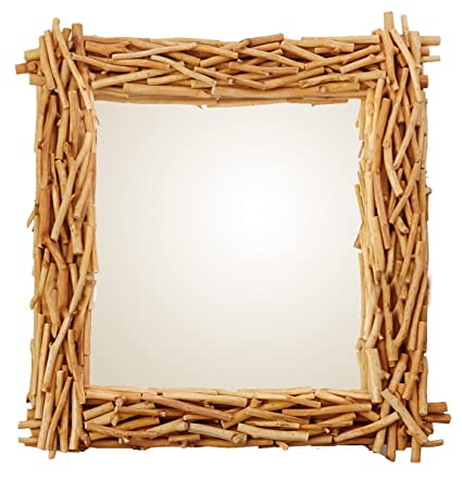 Amazon.com: Driftwood Mirror by O\'THENTIQUE | Large Wood Wooden ...