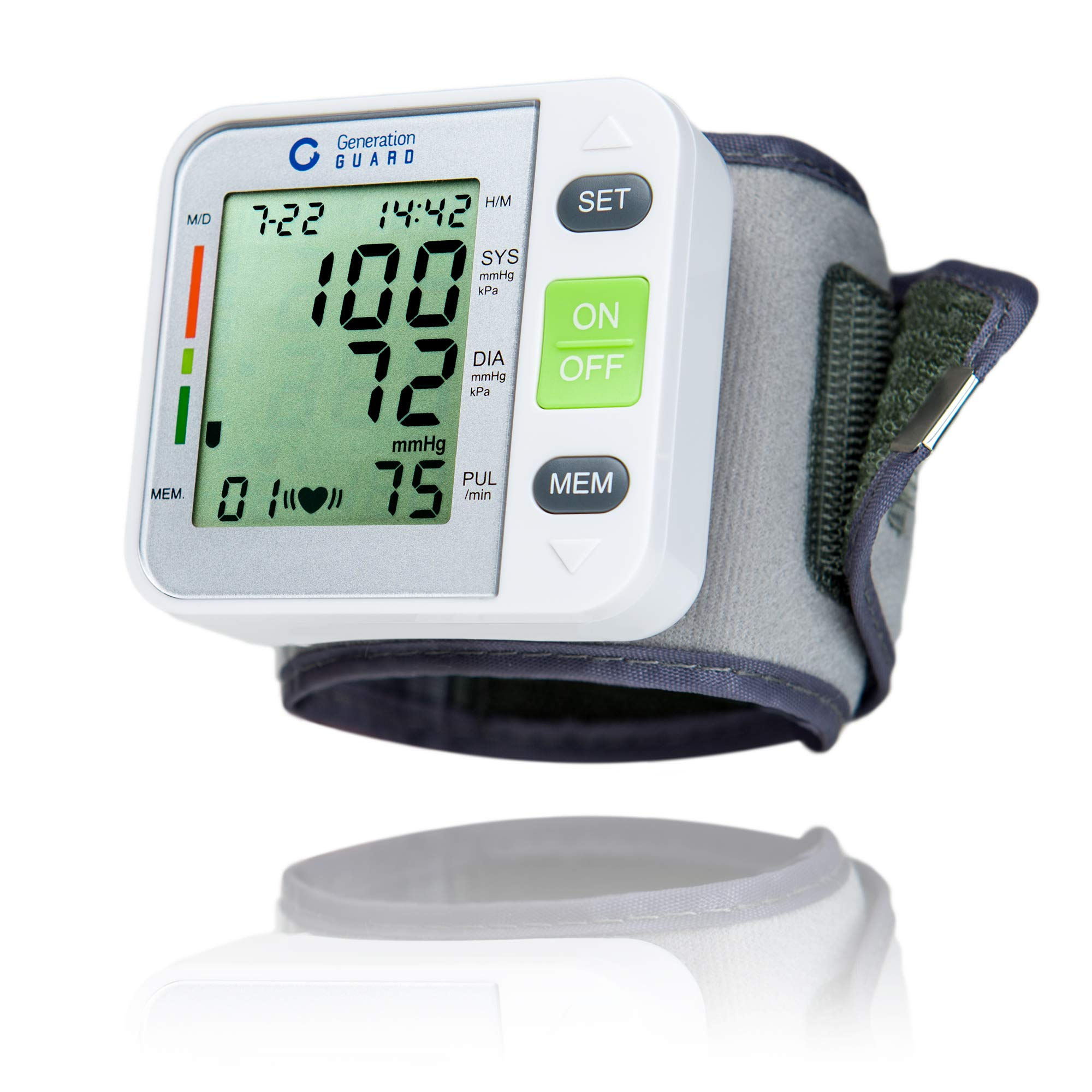 Clinical Automatic Blood Pressure Monitor FDA Approved by Generation Guard with Large Screen Display Portable Case Irregular Heartbeat BP and Adjustable Wrist Cuff Perfect for Health Monitoring by Generation Guard