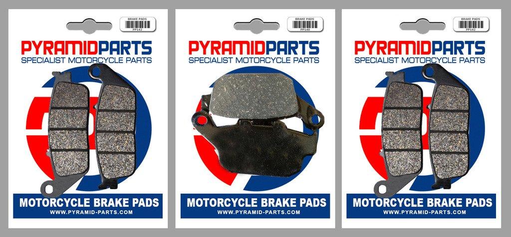 Honda CBR 400 RR 87-89 Front & Rear Brake Pads Full Set (3 Pairs) PKN