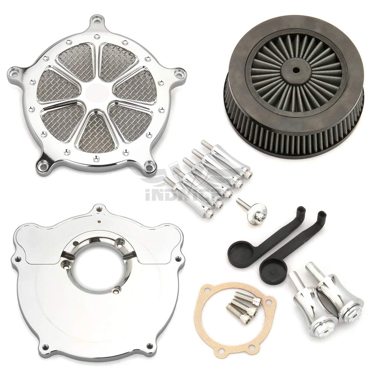 Cubierta del filtro de aire cromado Dyna 93-17 tomas de aire softail FLS 93-15 tomas de aire girando FLHR FLHX FLHT 93-07