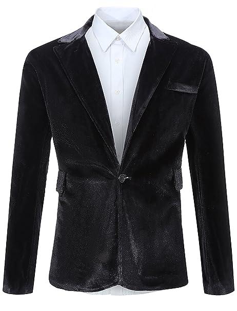 Amazon.com: fehaan para hombre un botón Slim Fit traje ...