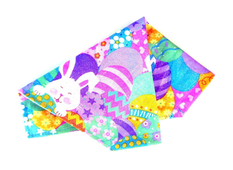 Bunny and Eggs Over the Collar Bandana  Reversible Over the Collar Bandana  Easter dog Bandana