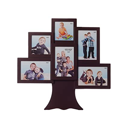 Buy eCraftIndia Family Tree Collage Acrylic and Glass Photo Frame ...