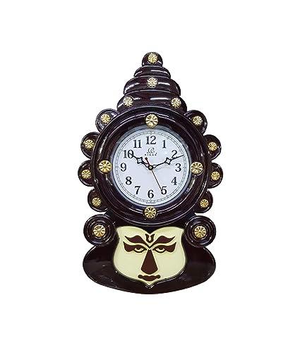 Buy Mdt India Kerala Art Kathakali Face Antique Wall Clock Wall