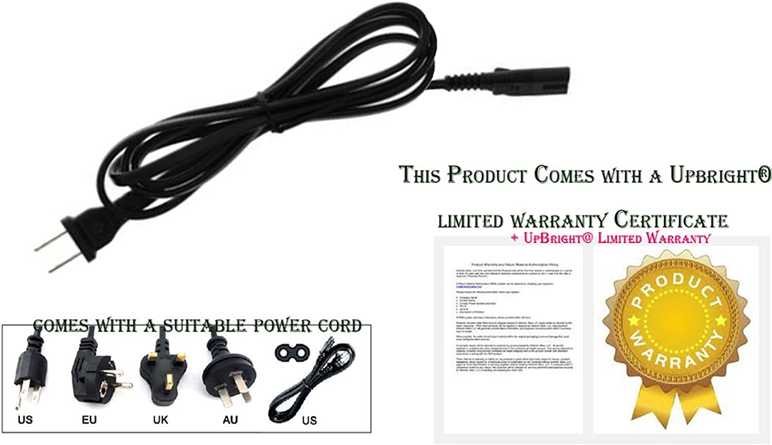 """NEW AC Power Cord Cable Plug For Sansui HDLCD1908 19/"""" 22/"""" 26/"""" 32/"""" LCD HD TV HDTV"""