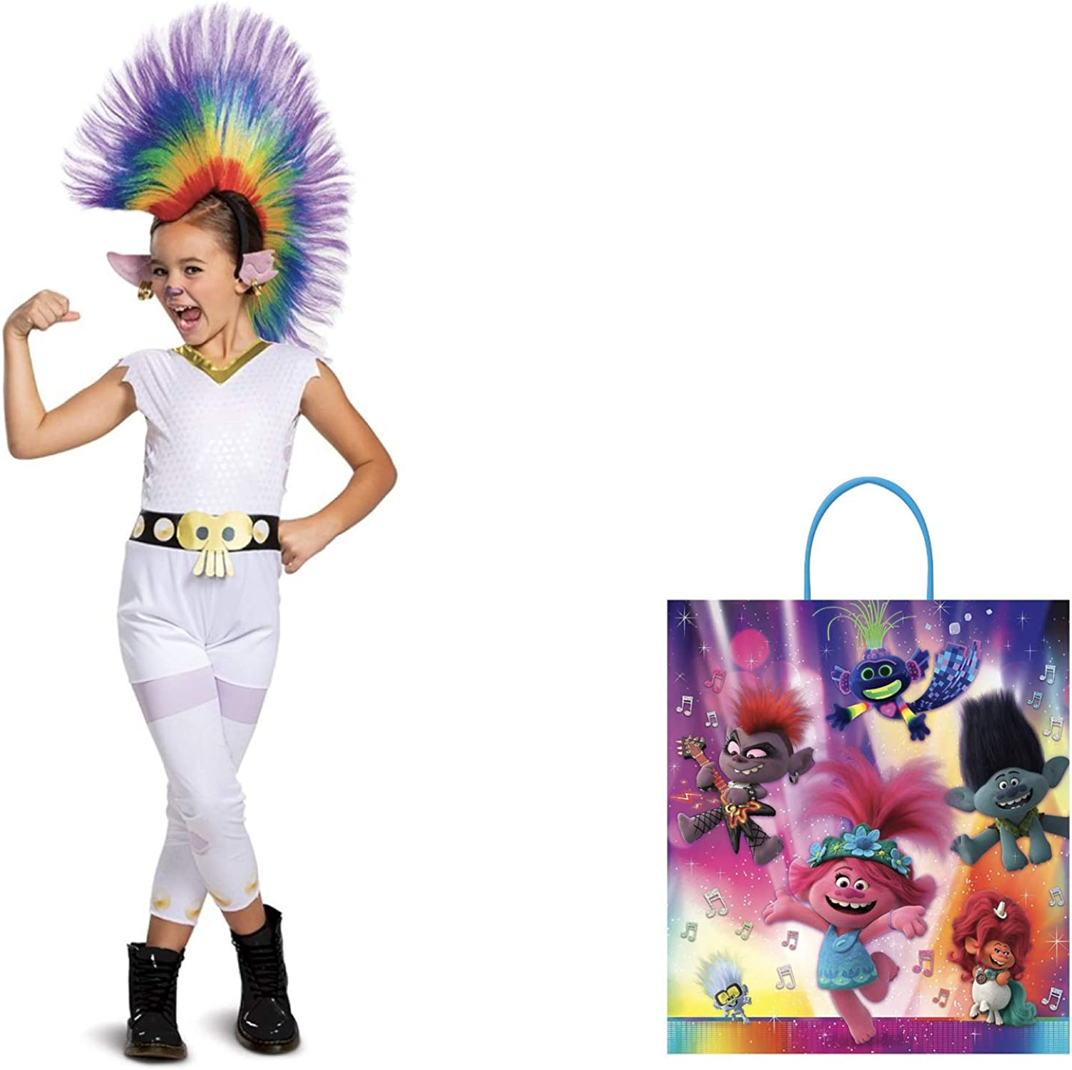Queen Barb Costume Trolls World Tour Classic Rainbow with Wig