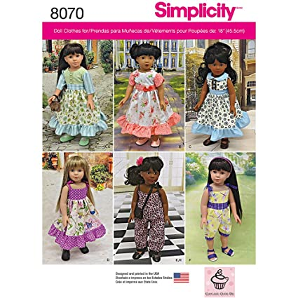 Amazon Simplicity Patterns Vintage Inspired 40 Inch Doll Awesome Vintage Simplicity Patterns