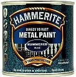Hammerite Métal Couleur Martelé 250ml bleu
