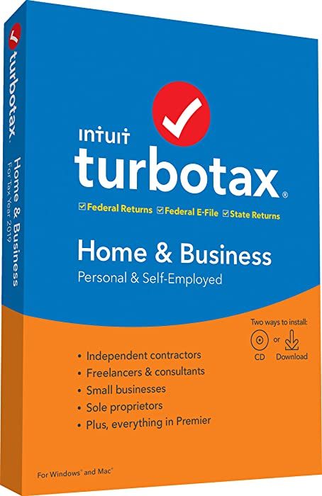 Top 10 Turbo Tax 2019 Home And Business Disk