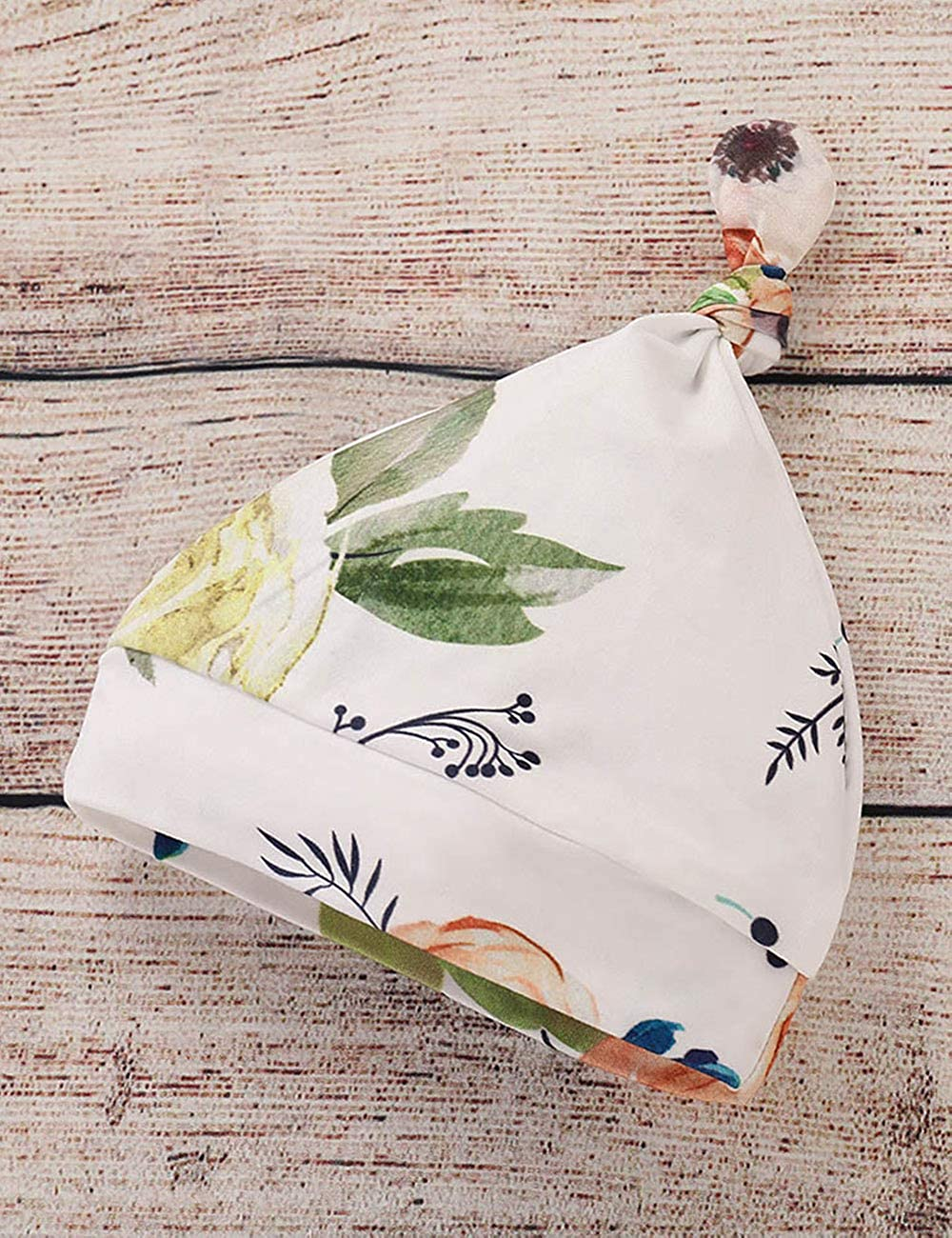Floral Pants Newborn Baby Girls Clothes Ruffle T-Shirt Headband Hat Outfit Sets