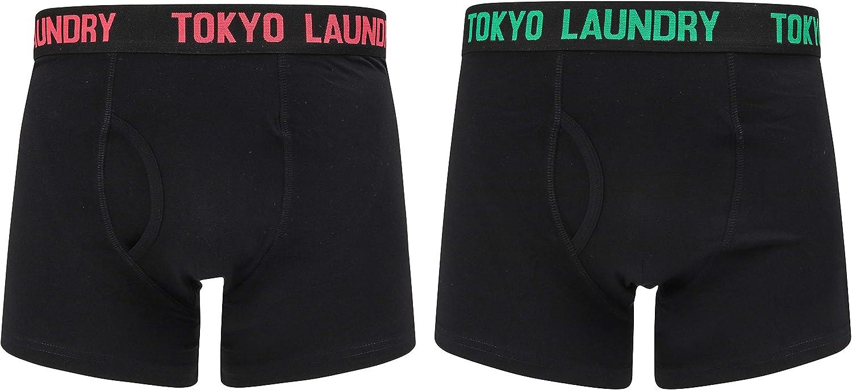 Tokyo Laundry Mens 2 Pack of Black Boxer Shorts