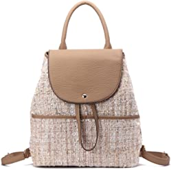 MKF Collection Bloomsbury Fashion Barrel Backpack by Mia K. Farrow