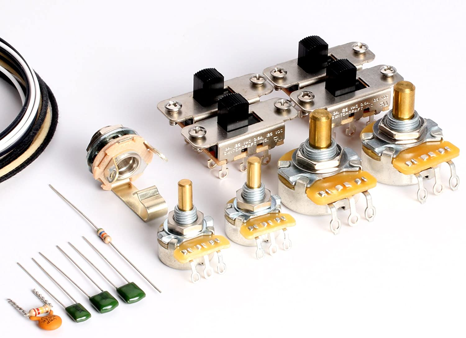 [SCHEMATICS_44OR]  Amazon.com: ToneShaper Guitar Wiring Kit, For Fender Jaguar: Musical  Instruments | Fender Jaguar Wiring |  | Amazon.com