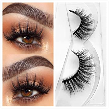 bfd8f9a937b Miss Q 3D Mink Eyelashes False Extensions Natural Long Lashes With Volume  for Women's Make Up