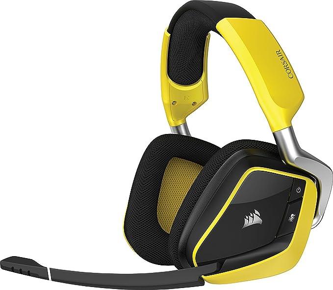 ... Diadema Amarillo auricular con micrófono - Auriculares con micrófono (PC/Juegos, Binaural, Diadema, Amarillo, Inalámbrico, USB): Amazon.es: Informática