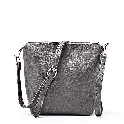 ddabdd588f8 2018 PU simulation leather new handbag solid color fashion handbags  shoulder bag clutch bag Messenger bag, 6216-1 (gray) packet  Handbags   Amazon.com