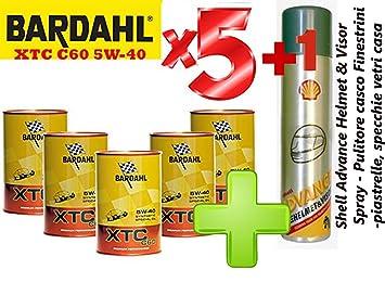 Bardahl XTC C60 5W-40 - Oferta de 5 litros de aceite sintético para motor: Amazon.es: Coche y moto