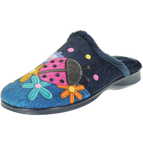GARZÓN. Zapatilla Destalonada Chinela de Casa Mariquita para Mujer - Modelo 2814.246: Amazon.es: Zapatos y complementos