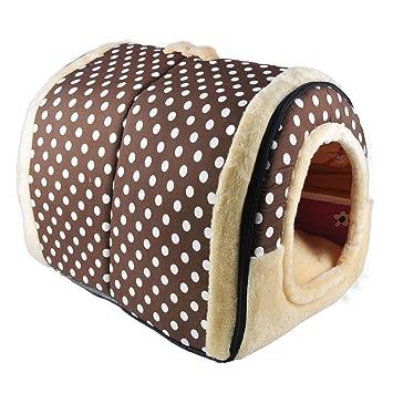 RENZE 2 en 1 casa de Mascotas y sofá, cómoda Suave Lavable Plegable caseta Cama