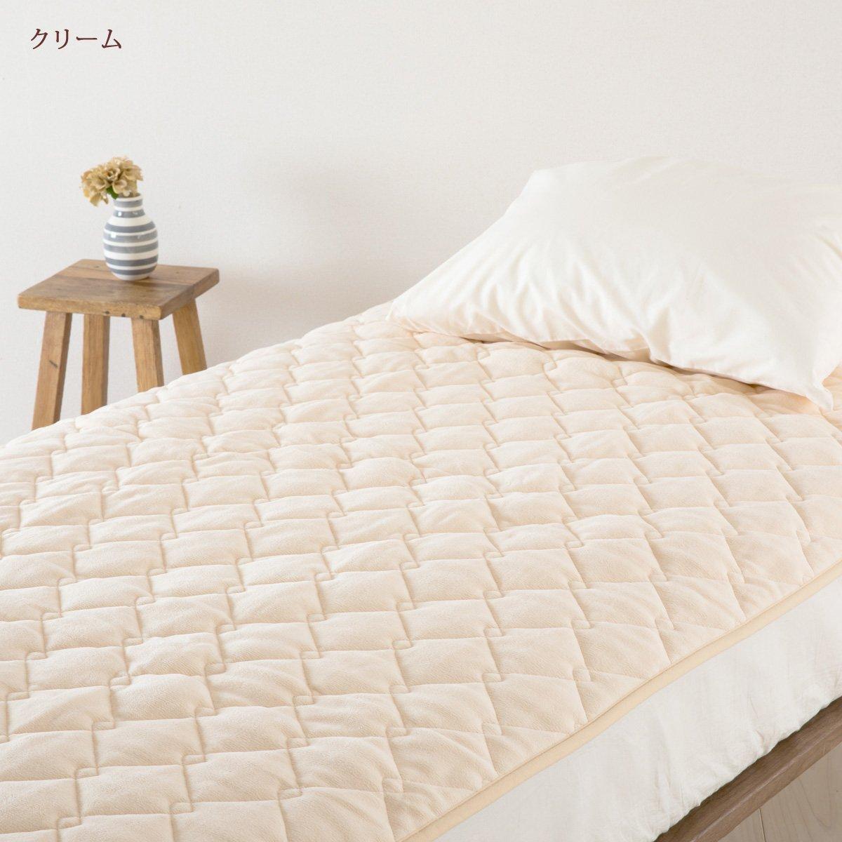 山甚/ジンペット 敷きパッド マイクロマティークファルベ セミダブル 軽量 日本製 2152 クリーム[42] セミダブル B07KFR7R6M