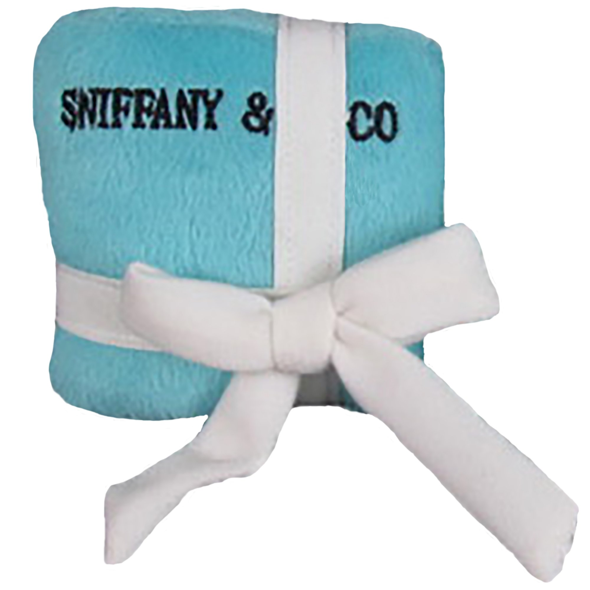 Sniffany and Co Plush Dog Parody GiftBox Toy w/ Squeaker - Small by Dog Diggin Designs by Dog Diggin Designs (Image #1)