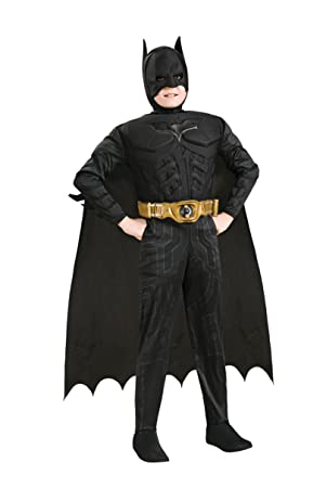 Rubies Costume Co DLX Muscle Chest Batman Costume, Small