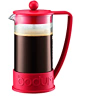 Bodum Brazil French Press 0.35-Liter 3-Cup Coffee Maker, 12-Ounce, Red
