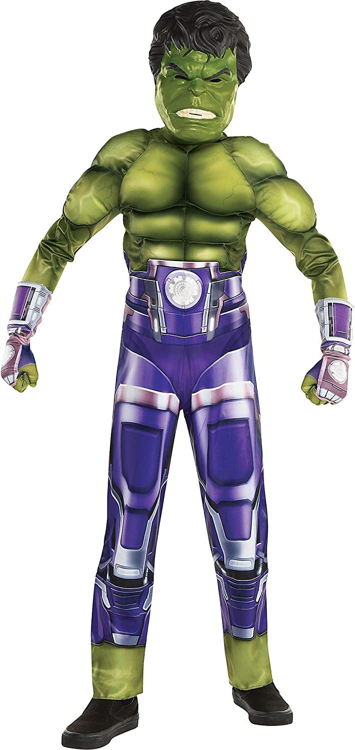 Amazon Com Party City Hulk Halloween Costume For Boys Marvel S Avengers Video Game Includes Jumpsuit Mask And Gloves Clothing