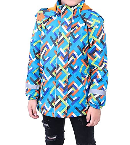Amazon.com: YoungSoul Boys Printed Raincoats Outdoor Windbreaker Waterproof Hooded Jackets: Clothing