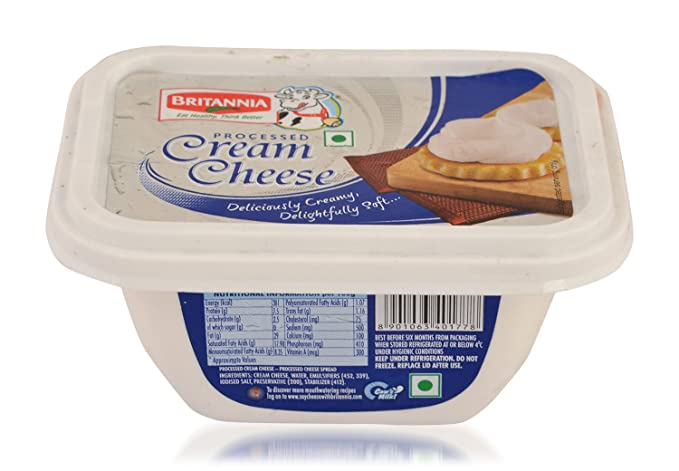 britannia cream cheese processed 180g pack amazon in grocery