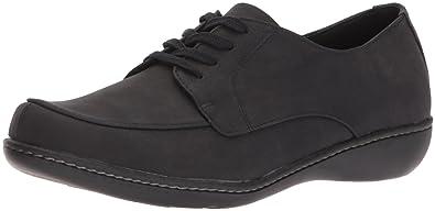 Soft Style by Hush Puppies Women's Jazlyn Slip-on Loafer, Black Nubuck, 6