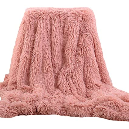 Blush Pink Faux Fur Throw Blanket 40x40 Super Soft Fuzzy Light Amazing Blush Pink Throw Blanket
