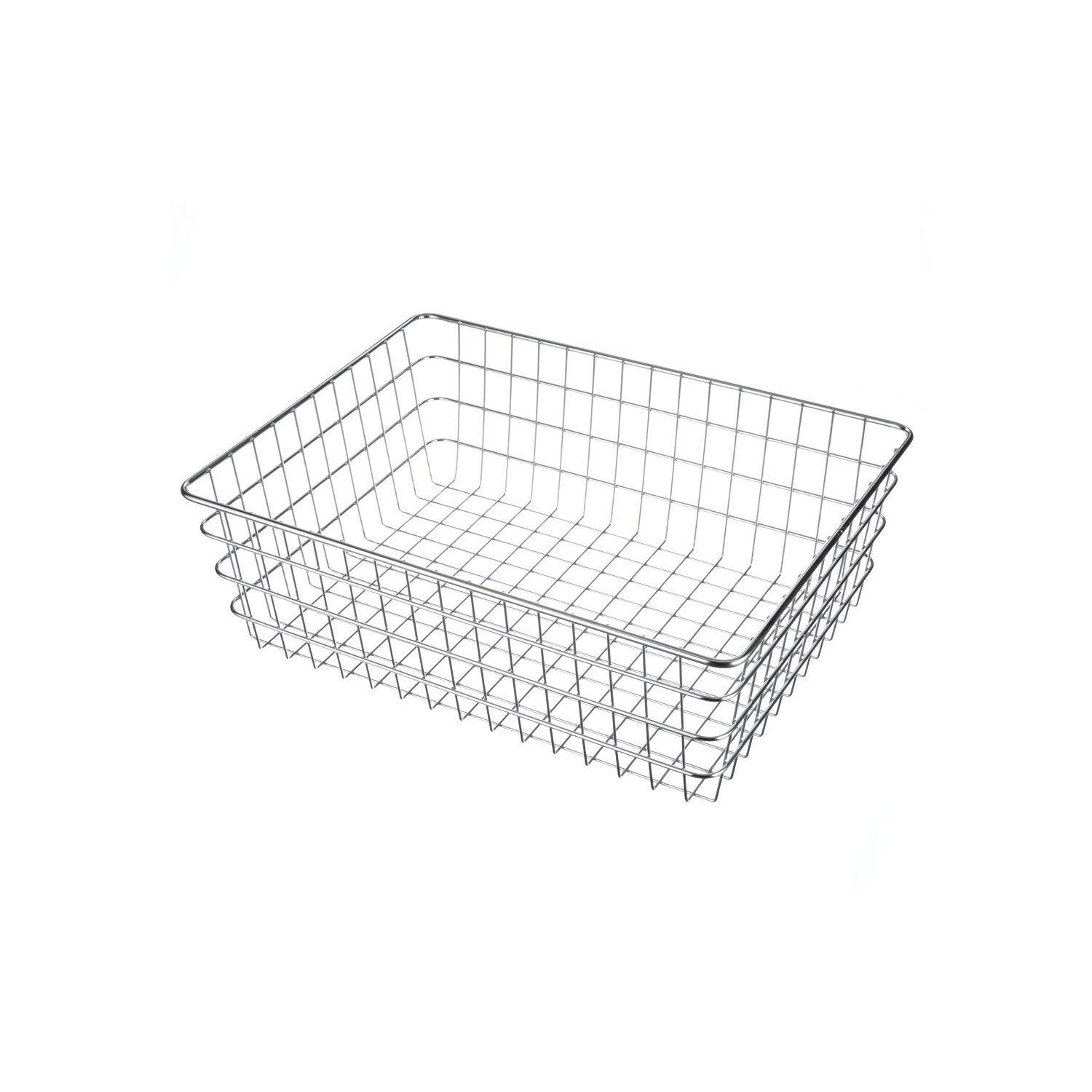 Marlin Steel Chrome Plated Utility Basket (17.75''L x 23.75''W x 8''H) by Marlin Steel Wire Products