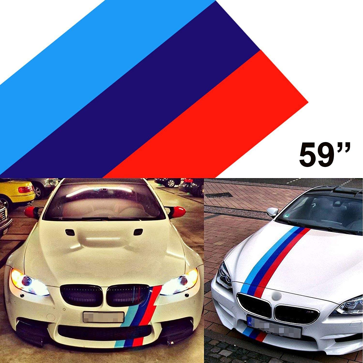 1x 59 M Colored Stripe Car Sticker For Bmw Exterior Cosmetic Hood Roof Bumpers Buy Online In Martinique At Martinique Desertcart Com Productid 53520389