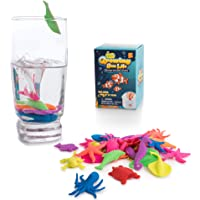 Water Growing Sea Creatures animals By Funky Toys | 32 Pack | Expandable Oceanic Animals Fun In The Bathtub Garden Pool Or Fountain | Educational & Learning Toy For Toddlers Children Boys & Girls Gift