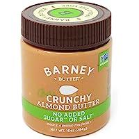 Barney Butter Bare Almond Butter, Crunchy, 10 Ounce