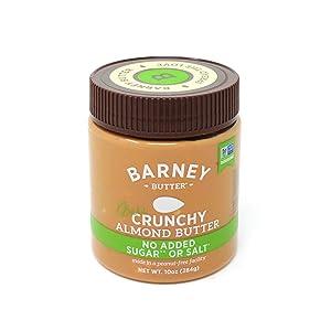 BARNEY Almond Butter, Bare Crunchy, No Sugar No Salt