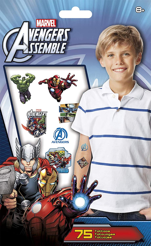 Marvel Vengadores Tatuajes Temporales - 75 CT.: Amazon.es ...