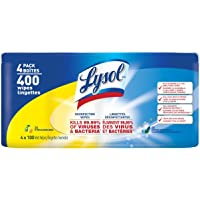 Lysol Disinfecting Surface Wipes, Citrus & Spring Waterfall, 4X100 Wipes, Disinfectant, Cleaning, Sanitizing (400 Wipes)