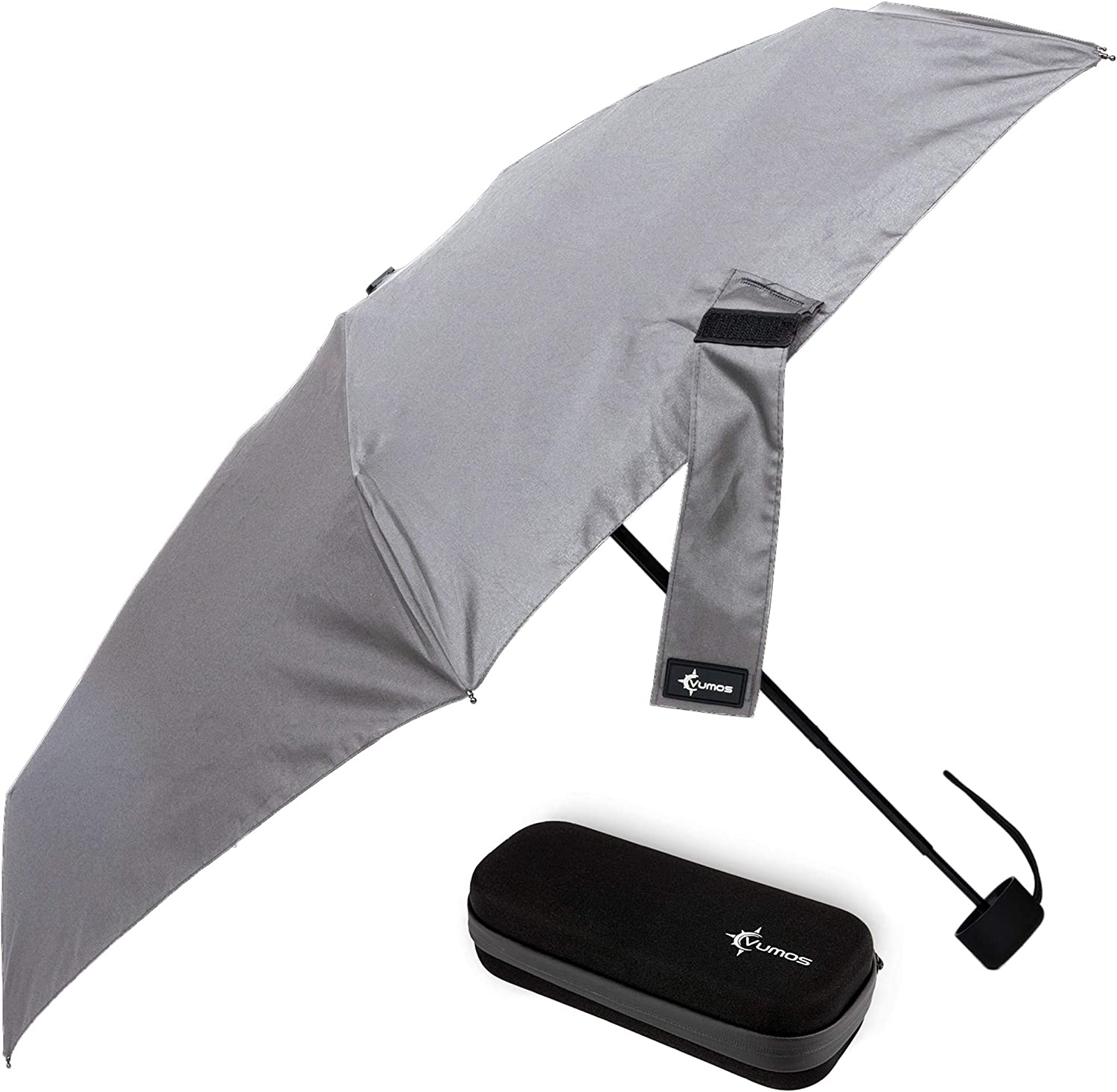 Travel Umbrella with Waterproof Case - Small and Compact for Backpack or Purse. Great Umbrella for Women, Men or Kids. (Classic Gray)