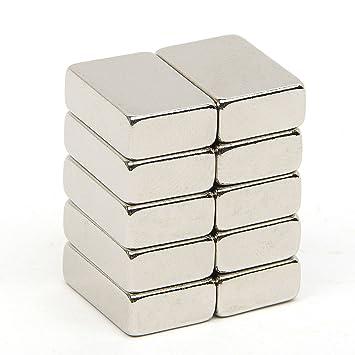 fortag 10 piezas rectangular de neodimio fuerte N52 Imanes ...