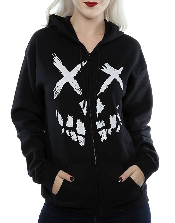 Suicide Squad Womens Skull Face Zip Up Hoodie at Amazon Womens Clothing store: