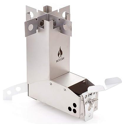 Amazon.com: Mini estufa de aluminio y titanio para quemar ...